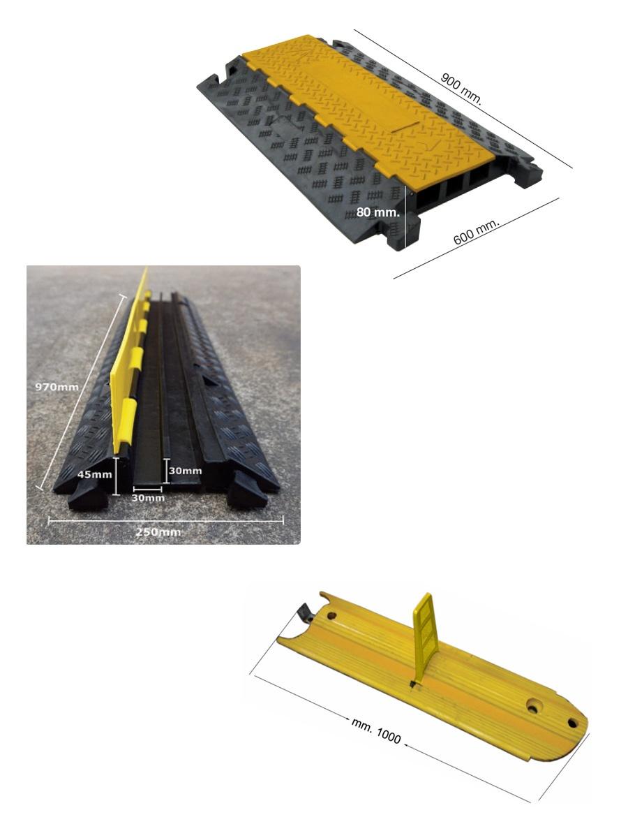 Elementi prefabbricati per salvagenti pedonali e delimitatori di corsia
