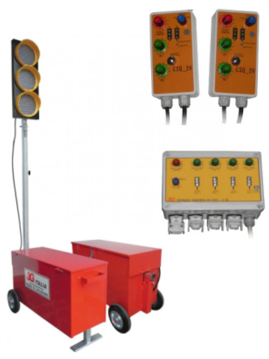 Semafori mobili da cantiere, centraline e accessori