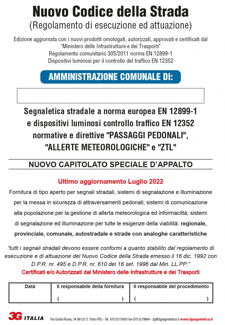 Capitolato Speciale d'Appalto 2019