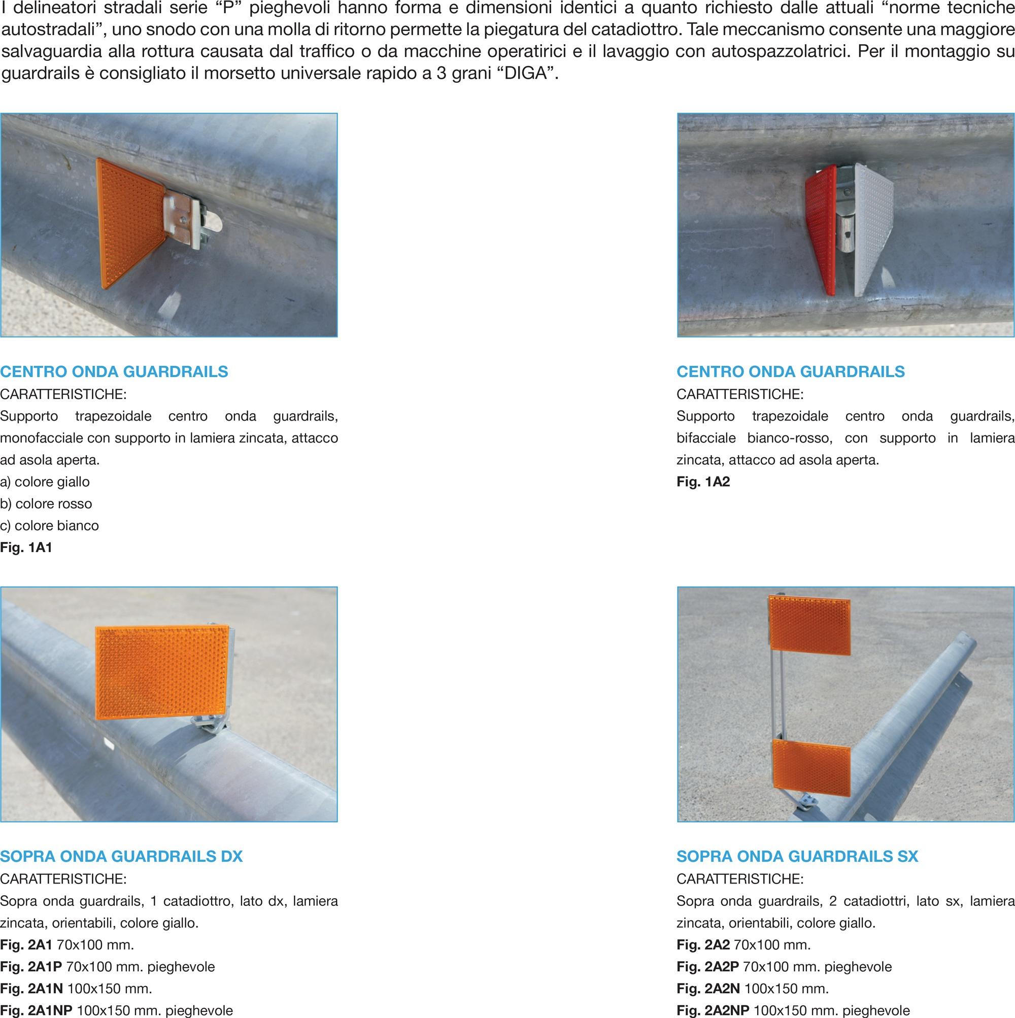 Delineatori per guardrails