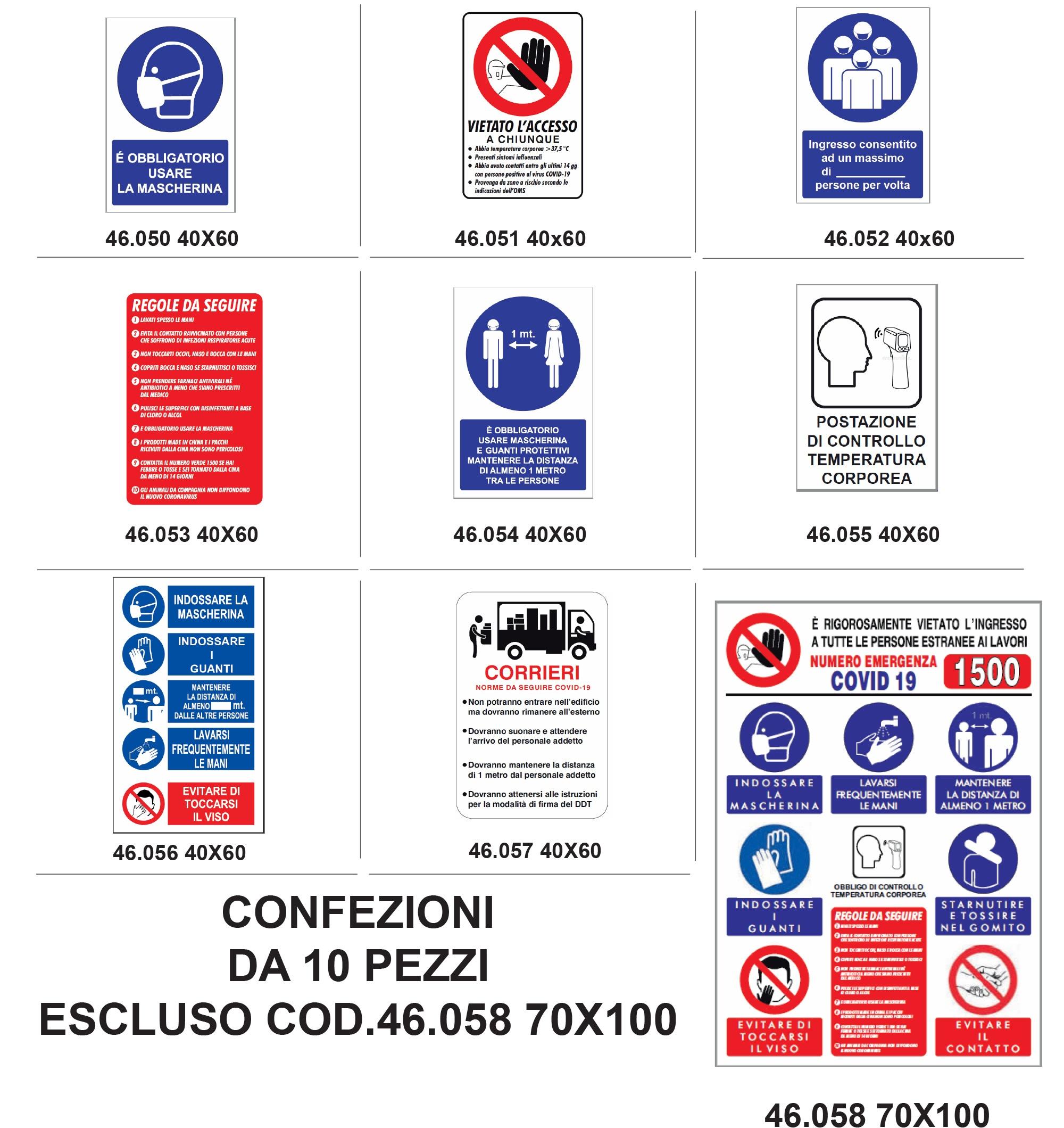Cartelli Covid-19 Coronavirus sicurezza lavoro - Polionda